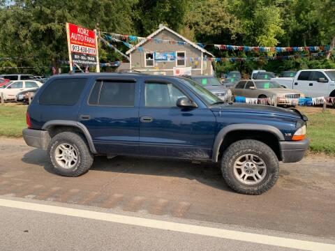 2003 Dodge Durango for sale at Korz Auto Farm in Kansas City KS
