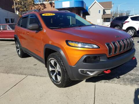 2015 Jeep Cherokee for sale at BELLEFONTAINE MOTOR SALES in Bellefontaine OH