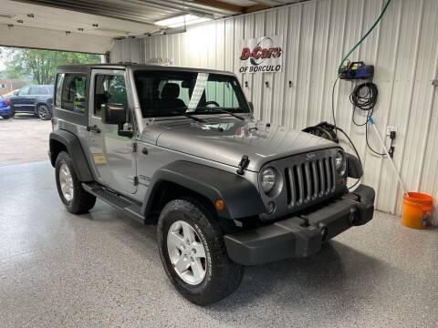 2015 Jeep Wrangler for sale at D-Cars LLC in Zeeland MI