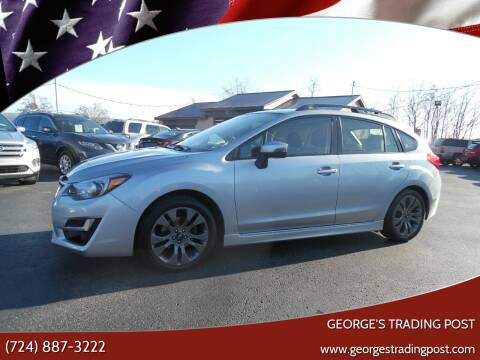 2016 Subaru Impreza for sale at GEORGE'S TRADING POST in Scottdale PA
