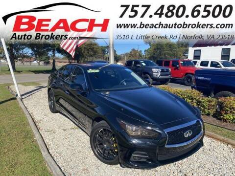 2016 Infiniti Q50 for sale at Beach Auto Brokers in Norfolk VA