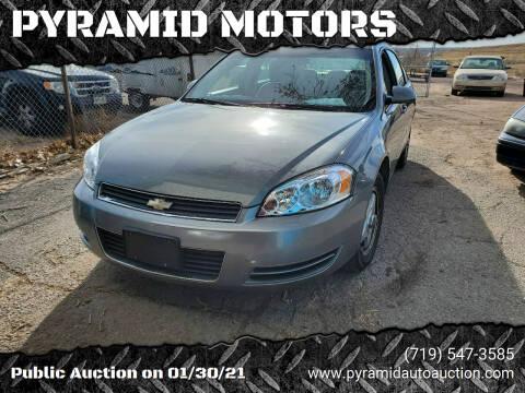 2007 Chevrolet Impala for sale at PYRAMID MOTORS - Pueblo Lot in Pueblo CO