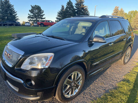2012 GMC Acadia for sale at BELOW BOOK AUTO SALES in Idaho Falls ID