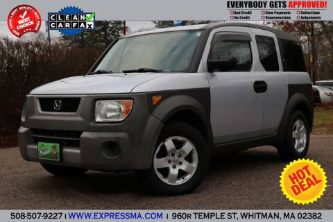 2004 Honda Element for sale at Auto Sales Express in Whitman MA