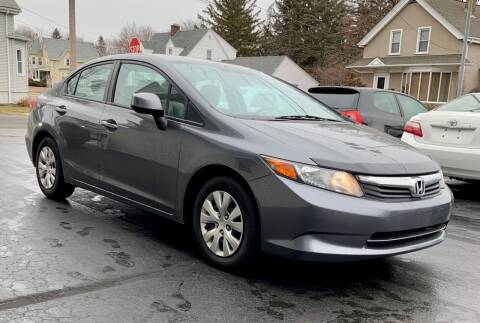 2012 Honda Civic for sale at FAMILY AUTO SALES, INC. in Johnston RI