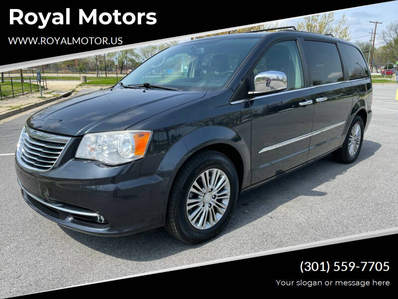 2014 Chrysler Town and Country for sale at Royal Motors in Hyattsville MD