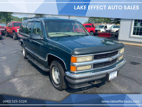 1997 Chevrolet Tahoe for sale at Lake Effect Auto Sales in Chardon OH