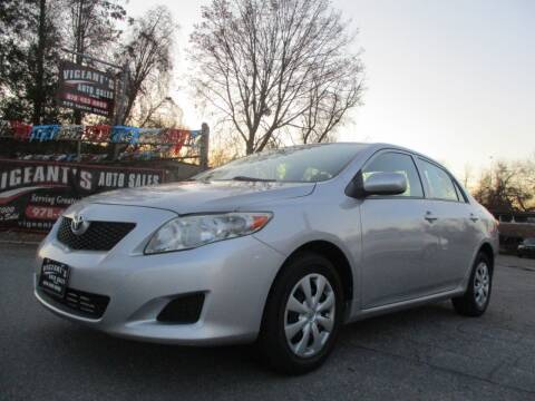 2010 Toyota Corolla for sale at Vigeants Auto Sales Inc in Lowell MA