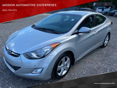 2013 Hyundai Elantra for sale at MISSION AUTOMOTIVE ENTERPRISES in Plant City FL