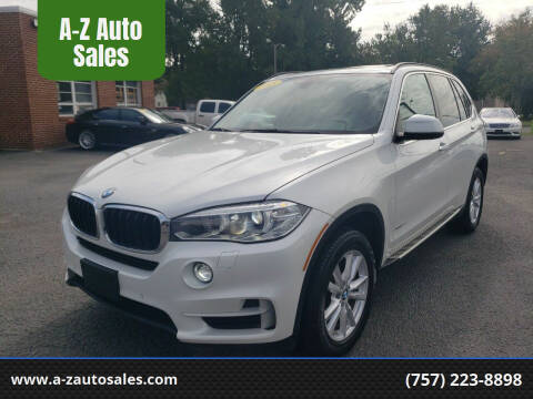 2015 BMW X5 for sale at A-Z Auto Sales in Newport News VA