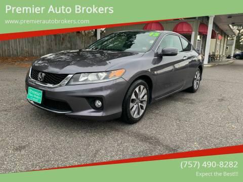 2015 Honda Accord for sale at Premier Auto Brokers in Virginia Beach VA