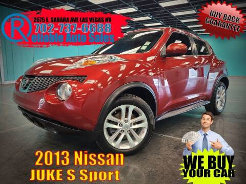 2013 Nissan JUKE for sale at Reliable Auto Sales in Las Vegas NV