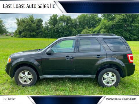 2011 Ford Escape for sale at East Coast Auto Sales llc in Virginia Beach VA
