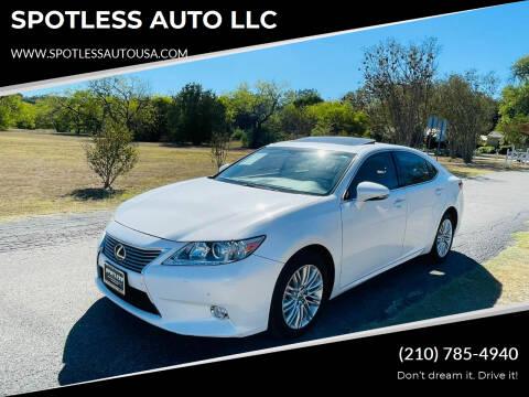 2015 Lexus ES 350 for sale at SPOTLESS AUTO LLC in San Antonio TX