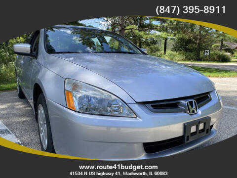 2003 Honda Accord for sale at Route 41 Budget Auto in Wadsworth IL