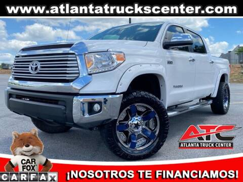 2017 Toyota Tundra for sale at ATLANTA TRUCK CENTER LLC in Brookhaven GA