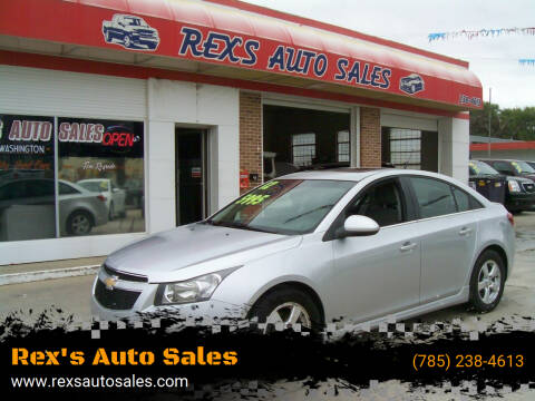 2012 Chevrolet Cruze for sale at Rex's Auto Sales in Junction City KS