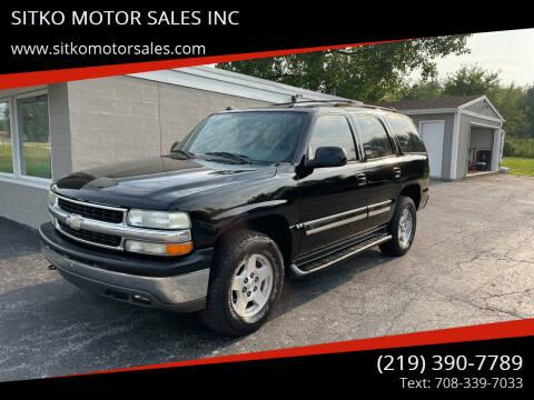 2004 Chevrolet Tahoe for sale at SITKO MOTOR SALES INC in Cedar Lake IN