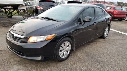 2012 Honda Civic for sale at ACE AUTOMOTIVE in Houston TX