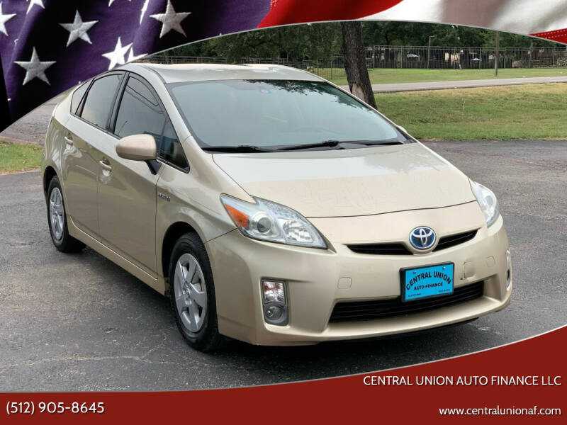 2011 Toyota Prius for sale at Central Union Auto Finance LLC in Austin TX