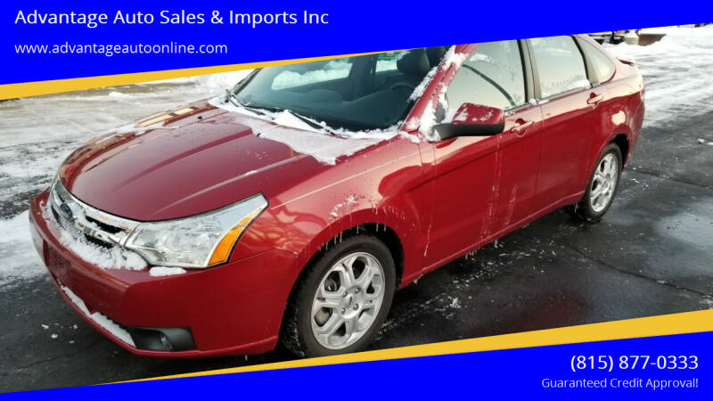 2009 Ford Focus for sale at Advantage Auto Sales & Imports Inc in Loves Park IL