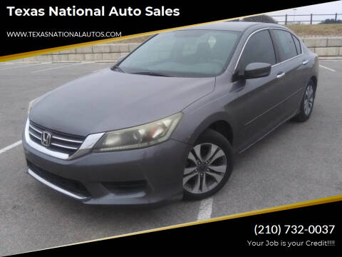 2014 Honda Accord for sale at Texas National Auto Sales in San Antonio TX