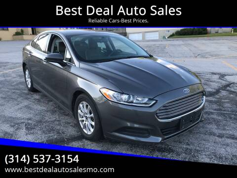 2015 Ford Fusion for sale at Best Deal Auto Sales in Saint Charles MO