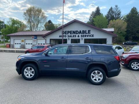 2018 GMC Acadia for sale at Dependable Auto Sales and Service in Binghamton NY