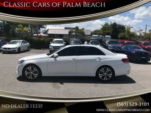 2015 Mercedes-Benz E-Class for sale at Classic Cars of Palm Beach in Jupiter FL