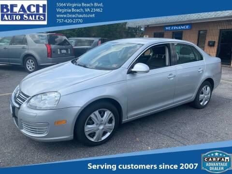 2005 Volkswagen Jetta for sale at Beach Auto Sales in Virginia Beach VA