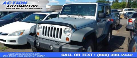 2012 Jeep Wrangler for sale at Action Automotive Inc in Berlin CT