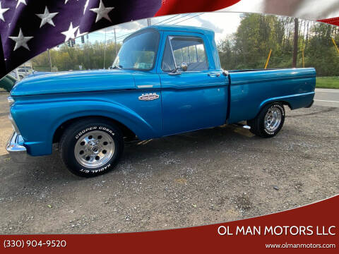 1966 Ford F-100 for sale at Ol Man Motors LLC in Louisville OH