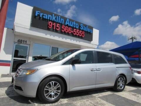 2011 Honda Odyssey for sale at Franklin Auto Sales in El Paso TX