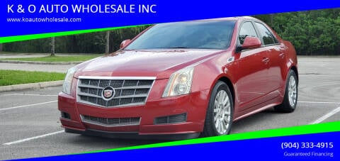 2010 Cadillac CTS for sale at K & O AUTO WHOLESALE INC in Jacksonville FL