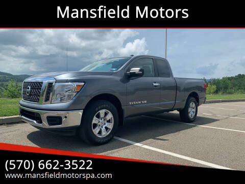 2018 Nissan Titan for sale at Mansfield Motors in Mansfield PA
