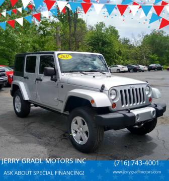 2011 Jeep Wrangler Unlimited for sale at JERRY GRADL MOTORS INC in North Tonawanda NY
