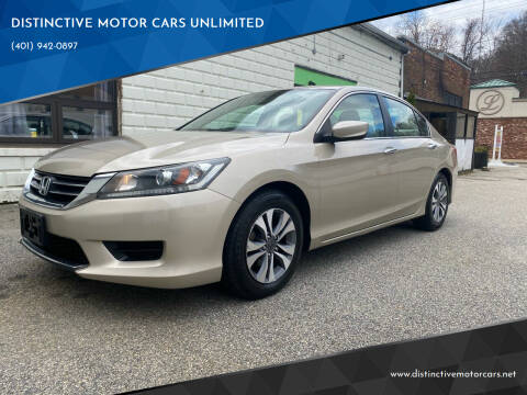 2013 Honda Accord for sale at DISTINCTIVE MOTOR CARS UNLIMITED in Johnston RI