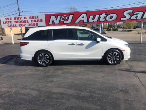 2021 Honda Odyssey for sale at N & J Auto Sales in Warsaw IN