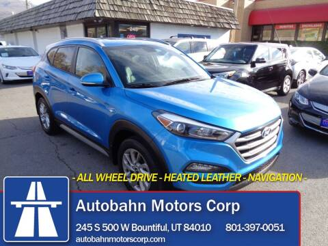 2017 Hyundai Tucson for sale at Autobahn Motors Corp in Bountiful UT