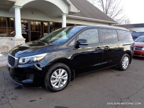 2016 Kia Sedona for sale at DEALS UNLIMITED INC in Portage MI