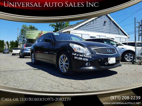 2013 Infiniti G37 Sedan for sale at Universal Auto Sales Inc in Salem OR