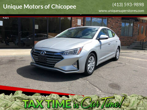 2019 Hyundai Elantra for sale at Unique Motors of Chicopee in Chicopee MA
