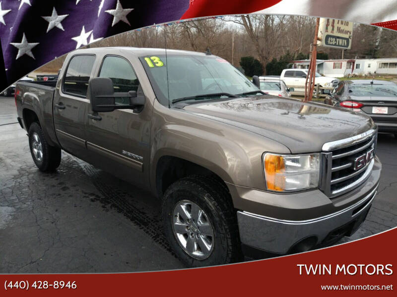 2013 GMC Sierra 1500 for sale at TWIN MOTORS in Madison OH