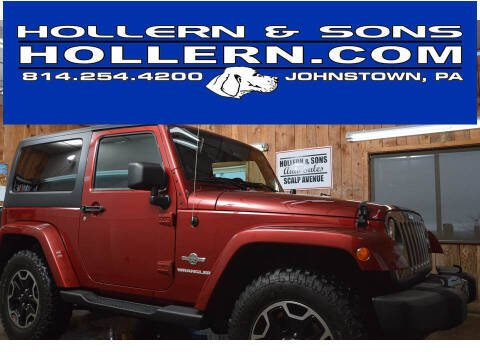 2012 Jeep Wrangler for sale at Hollern & Sons Auto Sales in Johnstown PA