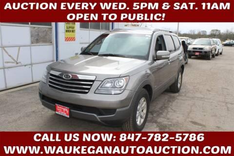 2009 Kia Borrego for sale at Waukegan Auto Auction in Waukegan IL