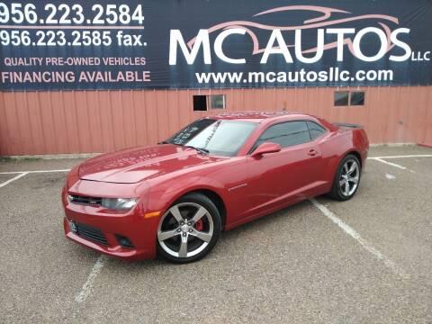2014 Chevrolet Camaro for sale at MC Autos LLC in Pharr TX