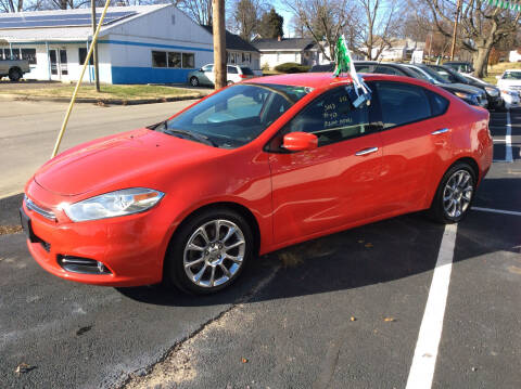 2016 Dodge Dart for sale at BISHOP MOTORS inc. in Mount Carmel IL