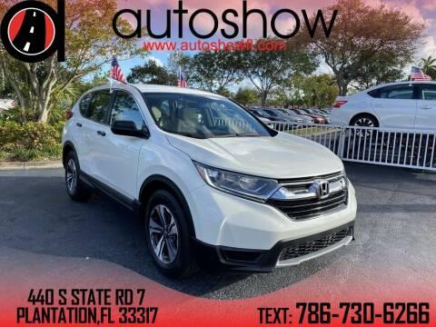 2017 Honda CR-V for sale at AUTOSHOW SALES & SERVICE in Plantation FL