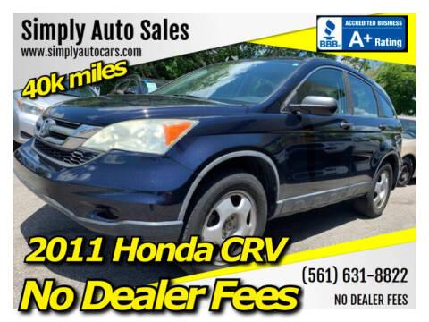 2011 Honda CR-V for sale at Simply Auto Sales in Palm Beach Gardens FL