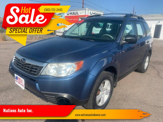 2010 Subaru Forester for sale at Nations Auto Inc. in Denver CO